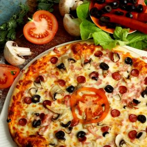 Pizza afumata